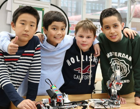 Students in Maker Space
