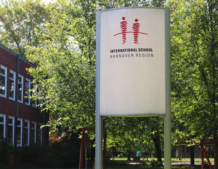 ISHR School Entrance Sign
