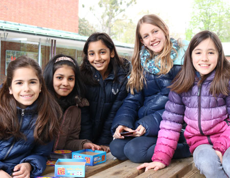 Students at board game club
