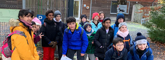 Primary students on a field trip
