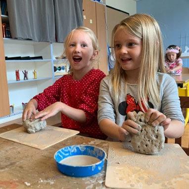 kindergarten clay
