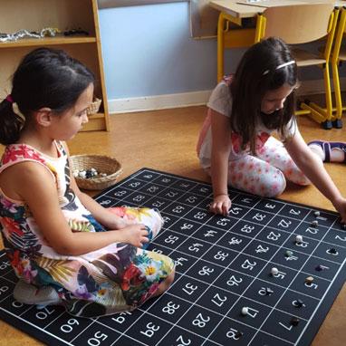 kindergarten numbers stones