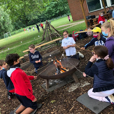Grade 4 at camp fire