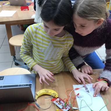 Grade 4 students studying engergy