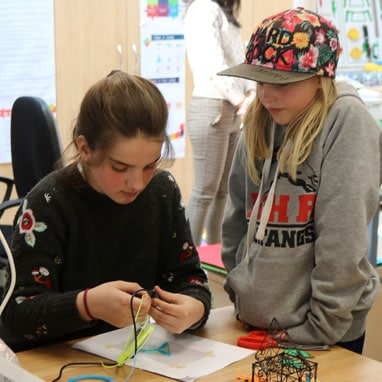 Grade 5 students in Maker Space